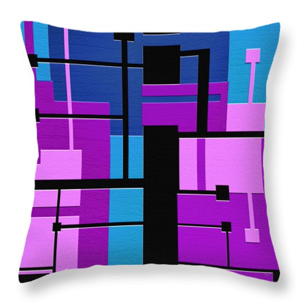 Punch Throw Pillow by Ely Arsha