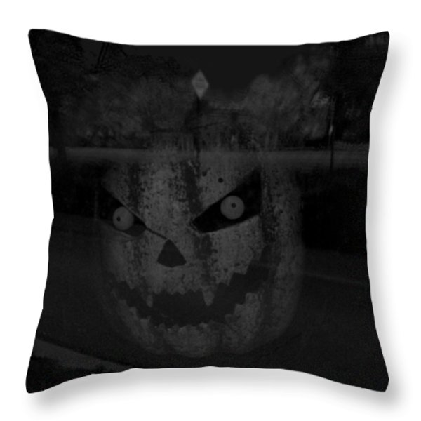 Punkinhead Throw Pillow by David Pantuso