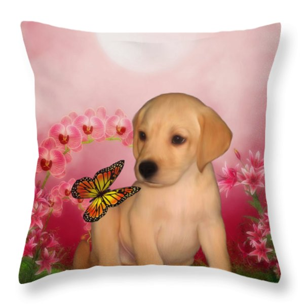 Puppy Innocence Throw Pillow by Smilin Eyes  Treasures