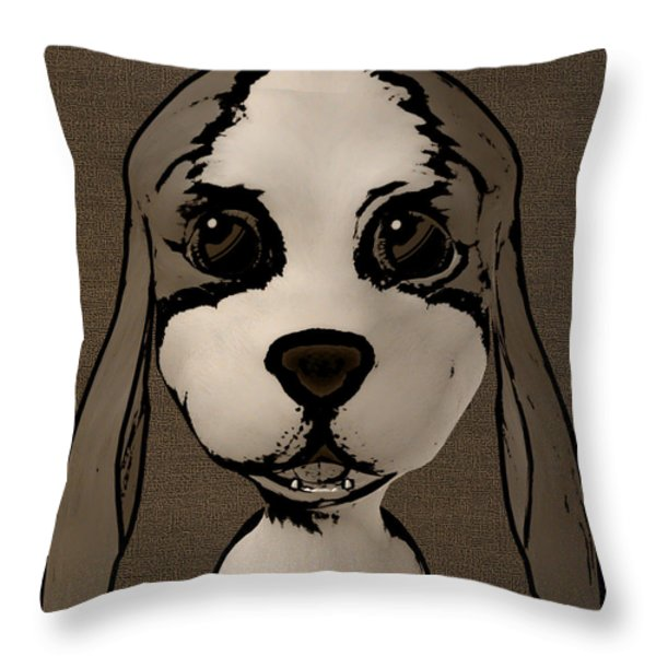 Puppy Love Throw Pillow by Fotios Pavlopoulos