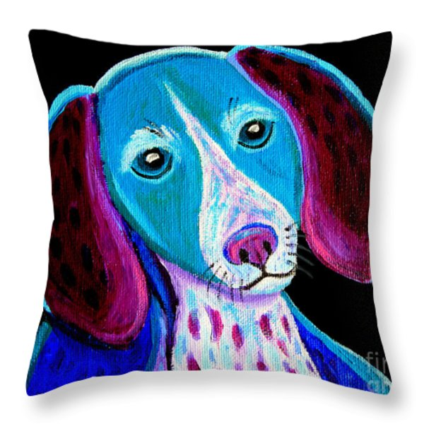 Puppy Love Throw Pillow by Nick Gustafson