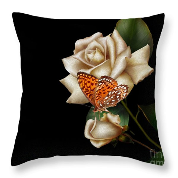 Purity Throw Pillow by Cheryl Young