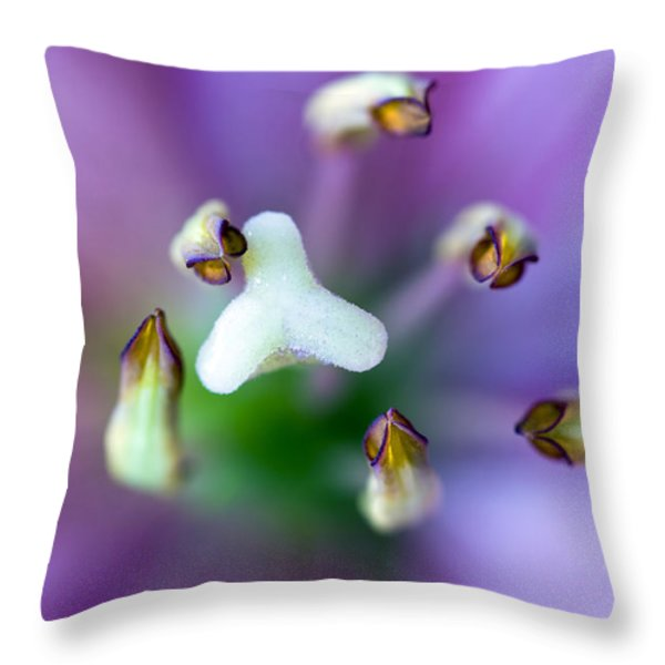 Purple Botanical Throw Pillow by Frank Tschakert