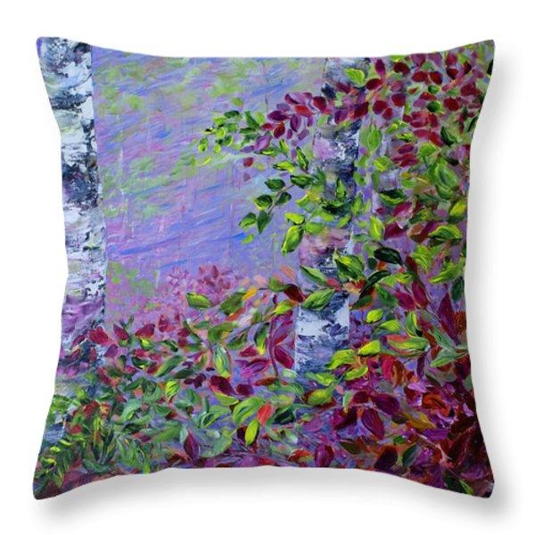 Purple Haze Throw Pillow by Joanne Smoley