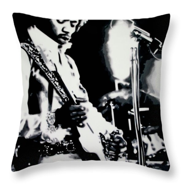 Purple Haze Throw Pillow by Luis Ludzska