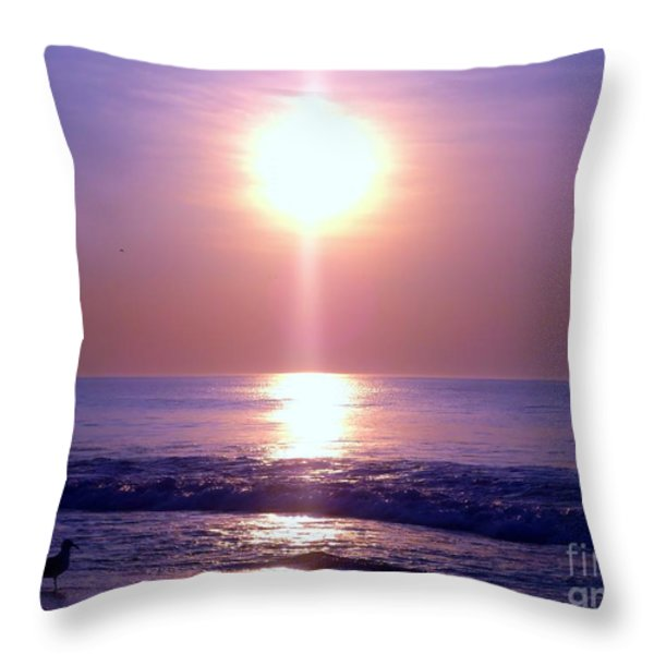 Purple Haze Throw Pillow by Michelle Milano