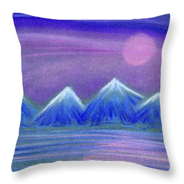 Purple Night 3 Throw Pillow by Hakon Soreide
