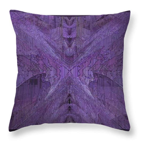 Purple Poeticum Throw Pillow by Tim Allen
