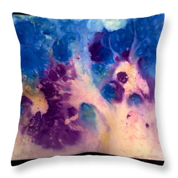 Purple Skies Throw Pillow by Tis Art
