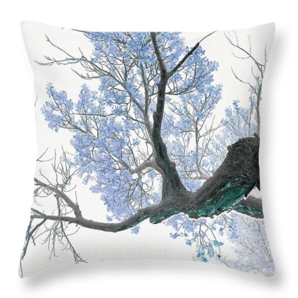 Purple Tree 1 Throw Pillow by Rebecca Margraf