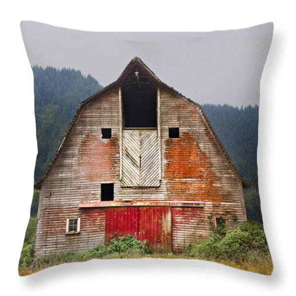 Put on a Happy Face Throw Pillow by Debra and Dave Vanderlaan