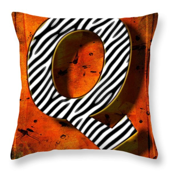 Q Throw Pillow by Mauro Celotti