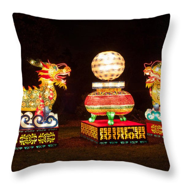 Qilin Throw Pillow by Semmick Photo