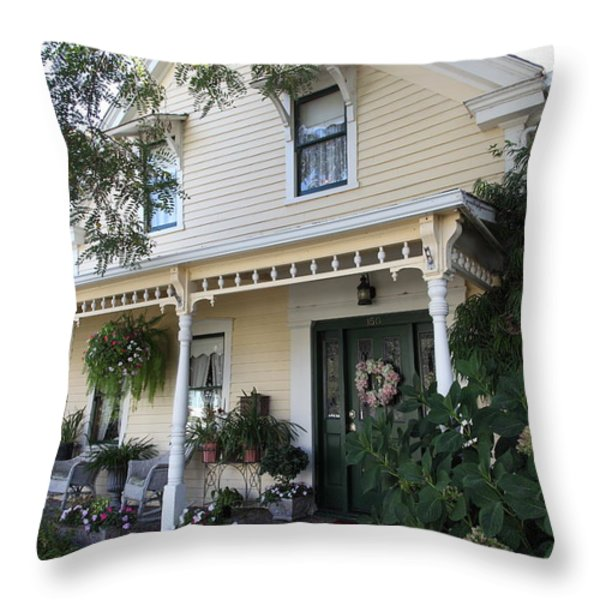 Quaint House Architecture - Benicia California - 5D18794 Throw Pillow by Wingsdomain Art and Photography