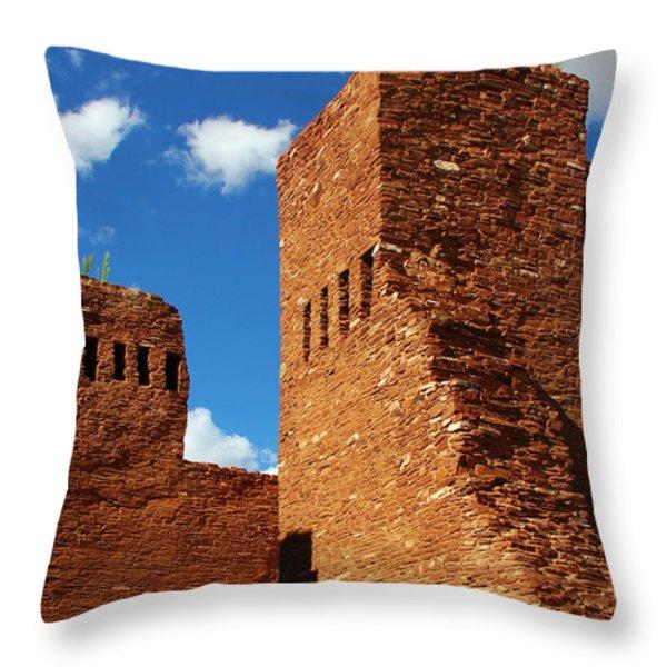 Quarai Salinas Pueblo Missions National Monument Throw Pillow by Christine Till