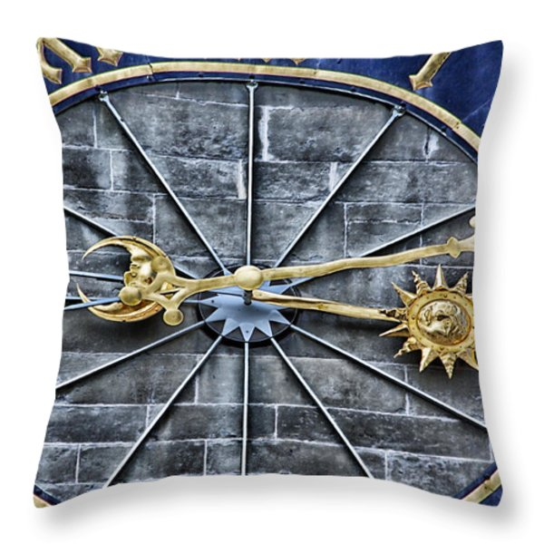 Quarter Past Throw Pillow by Lauri Novak