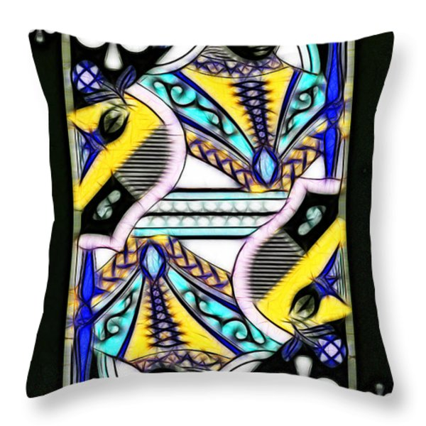 Queen of Spades - v2 Throw Pillow by Wingsdomain Art and Photography