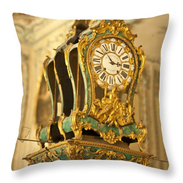 Queen's Clock Throw Pillow by Nomad Art And  Design