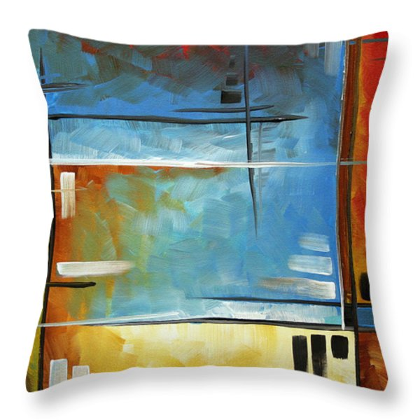 Quiet Whispers by MADART Throw Pillow by Megan Duncanson