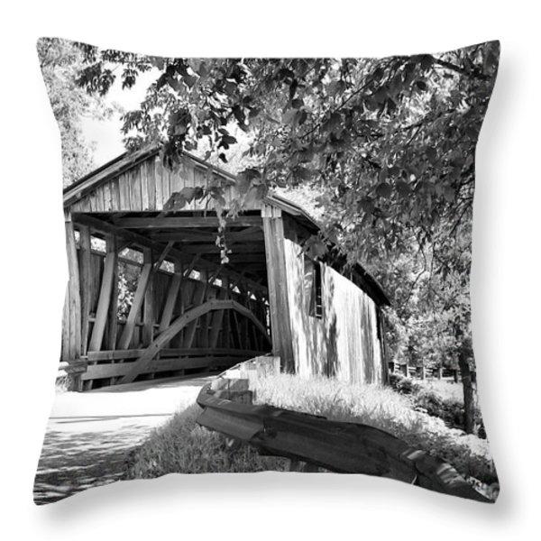 Quinlan Bridge Throw Pillow by Deborah Benoit