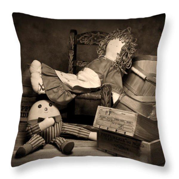 Rag Doll Throw Pillow by Tom Mc Nemar