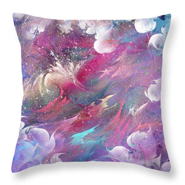 Raging Dreams Throw Pillow by Rachel Christine Nowicki