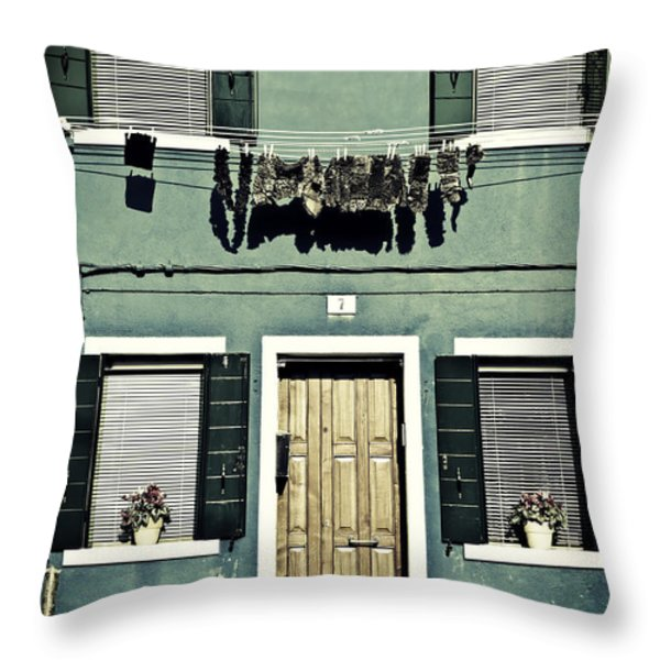 rags in Venice Throw Pillow by Joana Kruse
