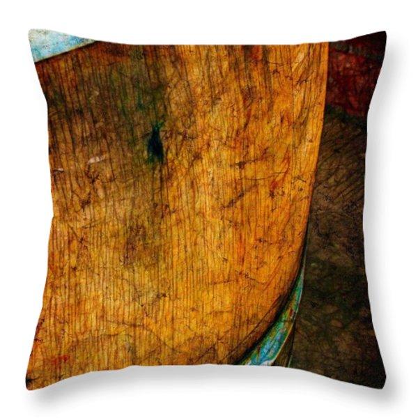 Rain Barrel Throw Pillow by Judi Bagwell