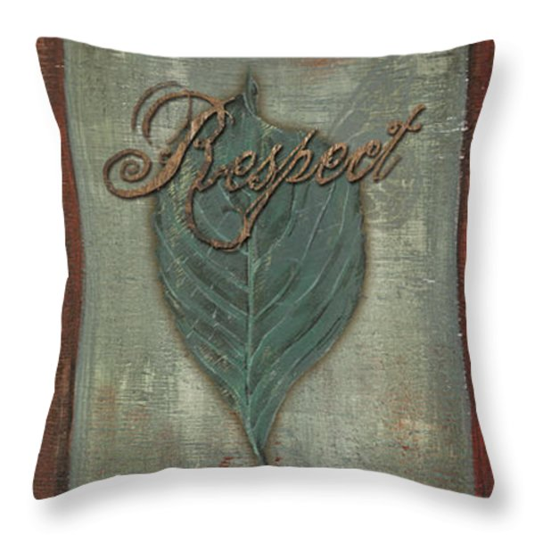 Rainbow Leaves 1 Throw Pillow by Debbie DeWitt