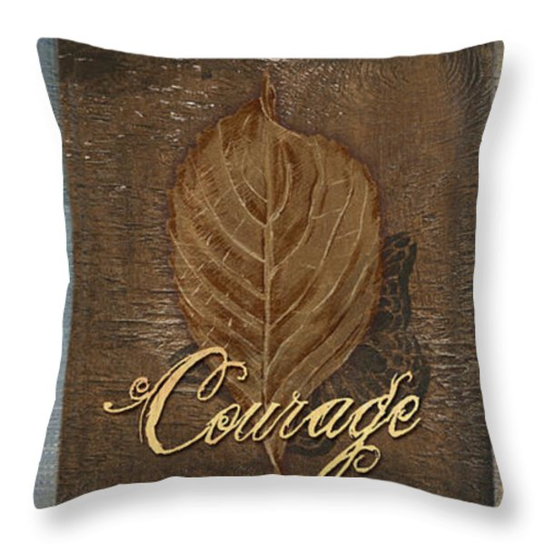 Rainbow Leaves 2 Throw Pillow by Debbie DeWitt
