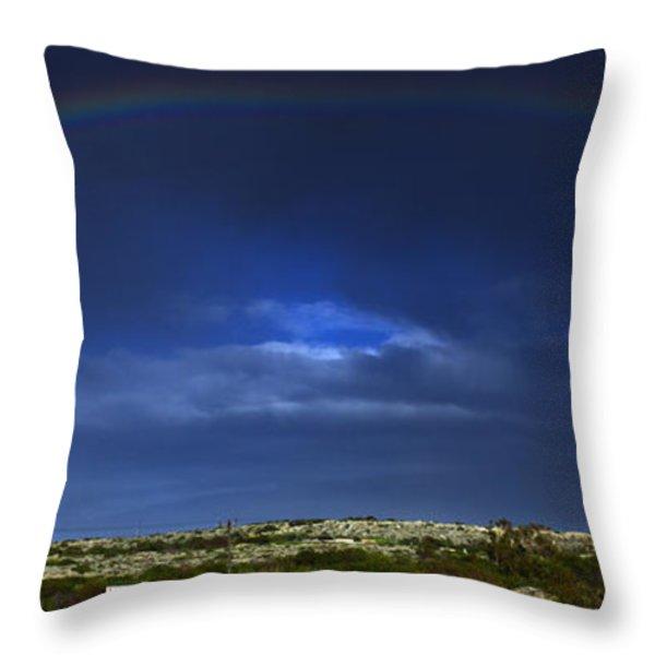rainbow Throw Pillow by Stylianos Kleanthous
