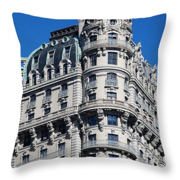 Rainbows And Architecture Throw Pillow by Rob Hans