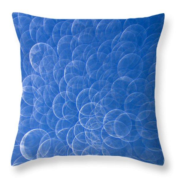 Raindrops on Window Throw Pillow by Silke Magino