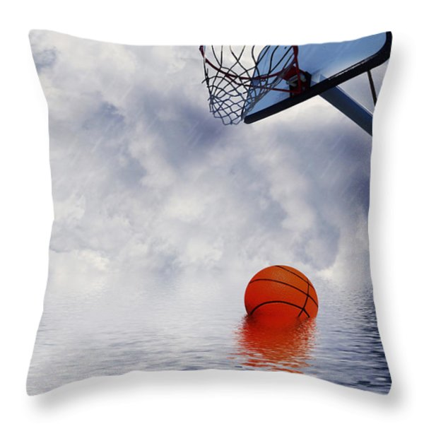 Rained Out Game Throw Pillow by Gravityx Designs