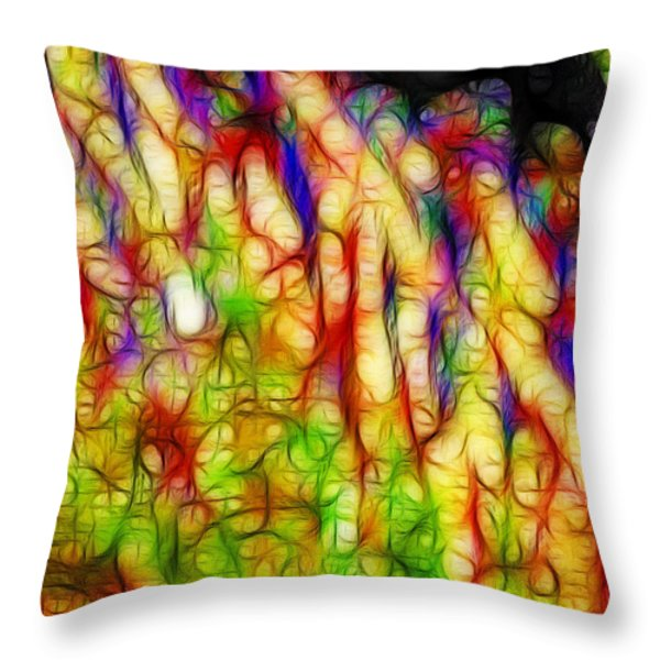 Raining Cats And Dogs Throw Pillow by Wingsdomain Art and Photography