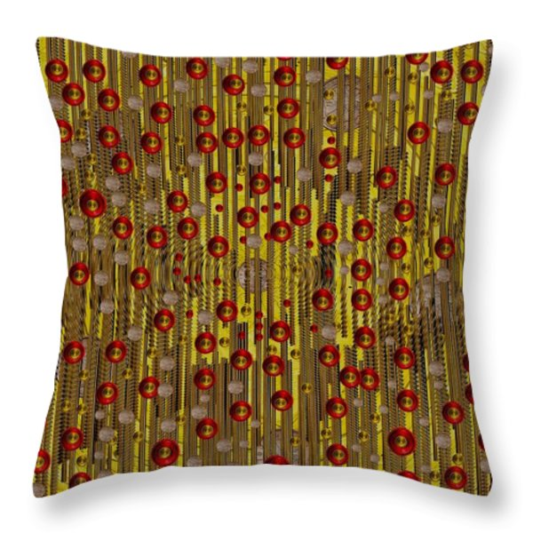 raining coins and juwels Throw Pillow by Pepita Selles