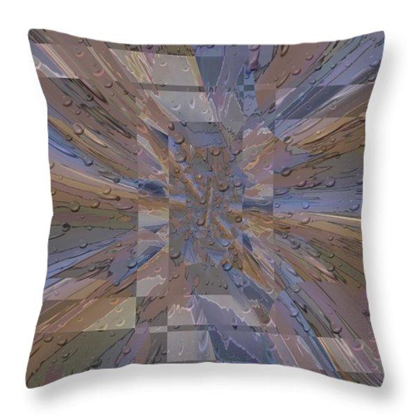 Rainy Day Portal 1 Throw Pillow by Tim Allen