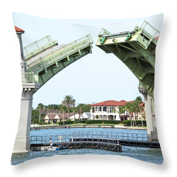 Raised Bridge Throw Pillow by Kenneth Albin