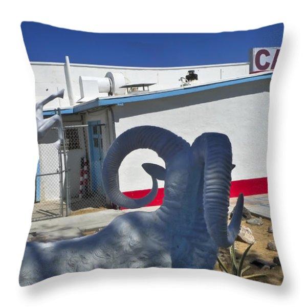 Rambo Throw Pillow by Skip Hunt