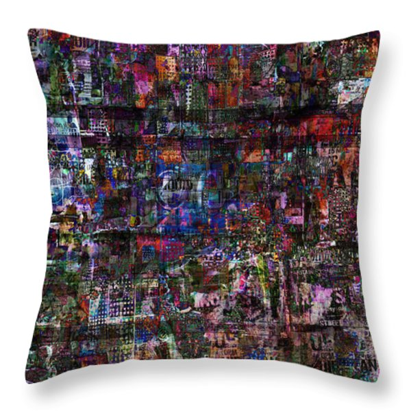 Random 515 Throw Pillow by Andy  Mercer