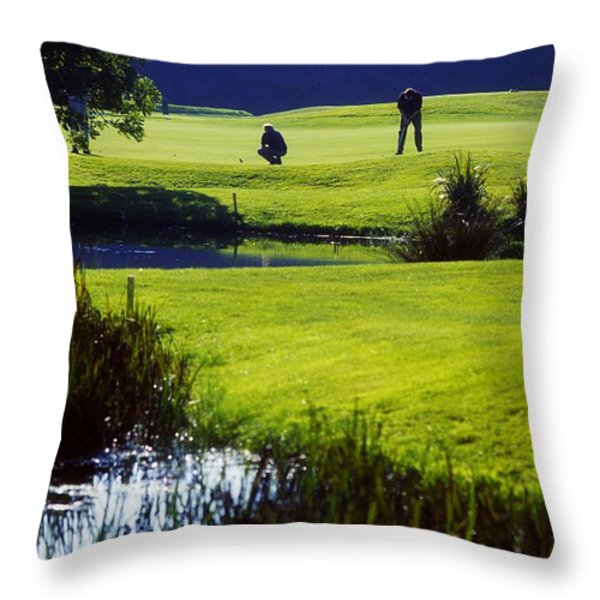 Rathsallagh Golf Club, Co Wicklow Throw Pillow by The Irish Image Collection