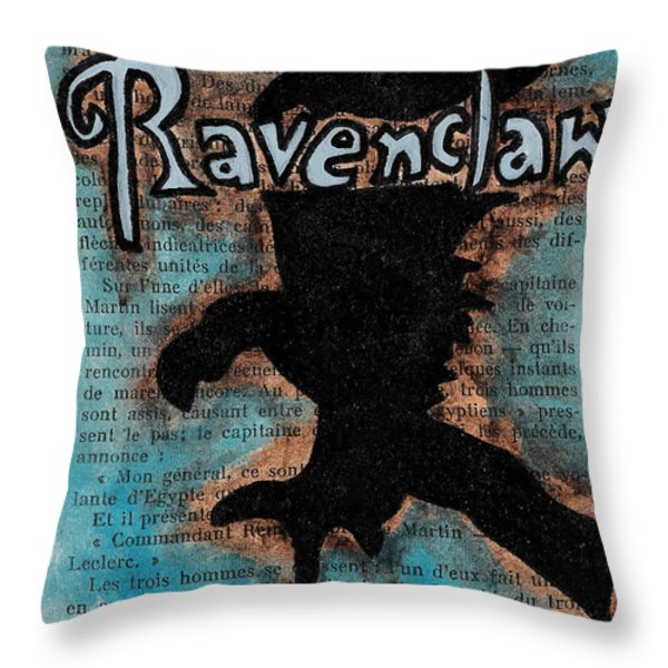 Ravenclaw Eagle Throw Pillow by Jera Sky
