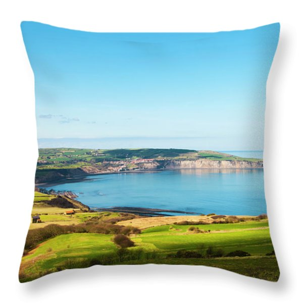 Ravenscar1 Throw Pillow by Svetlana Sewell