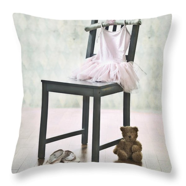 Ready For Ballet Lessons Throw Pillow by Joana Kruse