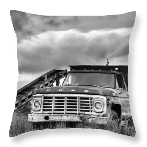 Ready for the Harvest BW Throw Pillow by JC Findley