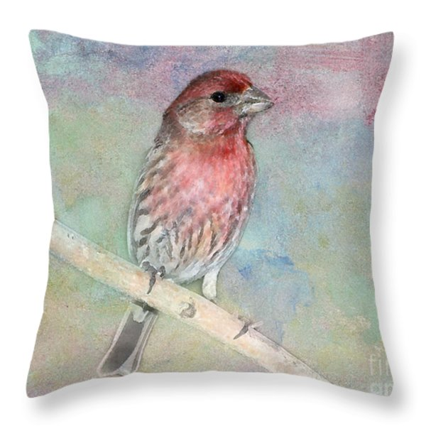 Ready To Sing My Song Throw Pillow by Betty LaRue