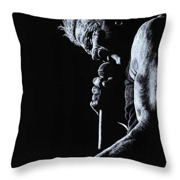 Rebel Yell Throw Pillow by Richard Young