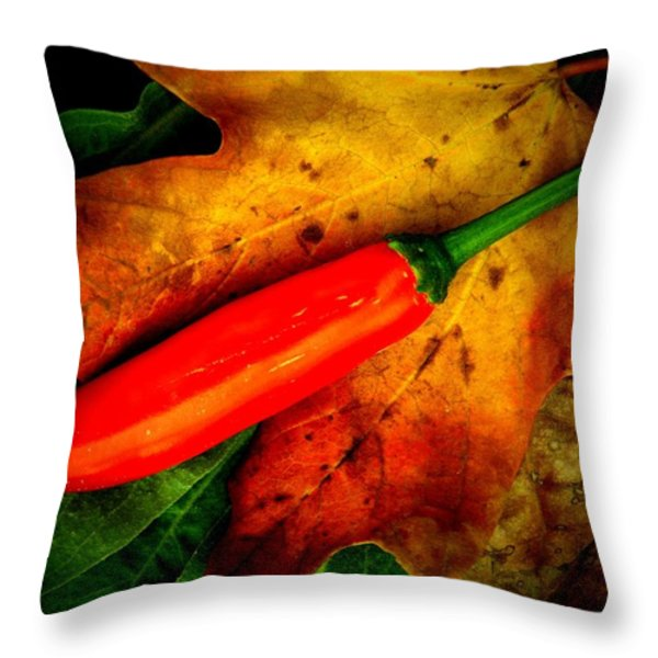 Red Hot Chili Pepper Throw Pillow by Chris Berry