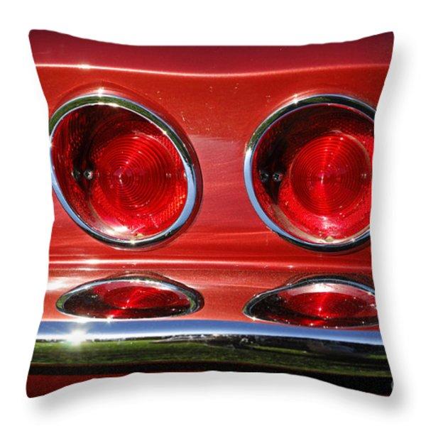 Red Hot Vette Throw Pillow by Luke Moore