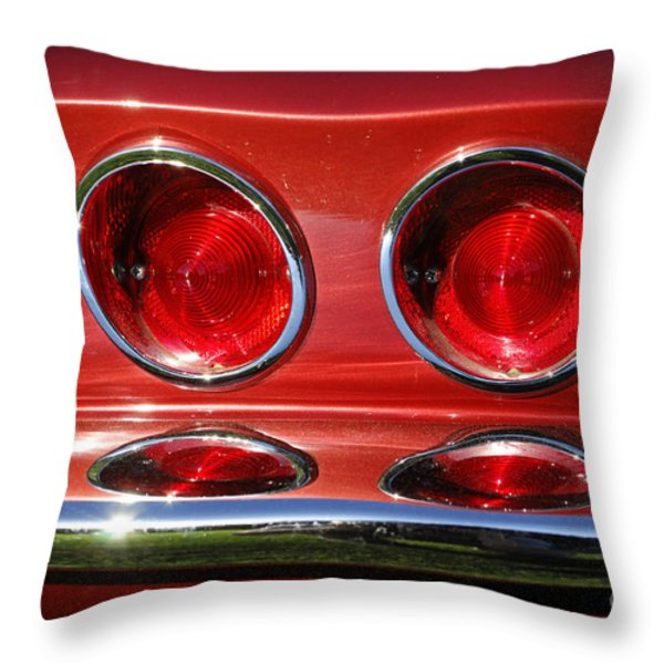 Red Hot Vette Throw Pillow by Luke Moore